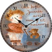 Warmth Christmas Decoration Glass Clock