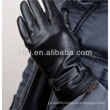 men's plain pattern wear leather gloves