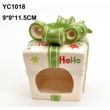 Chandelier en forme de boîte à cadeau en céramique