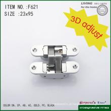 Gorgeous 3D ajustável de 90 graus de cruzada do dobramento dobradiça para porta de madeira