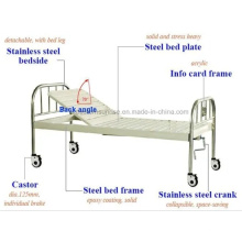 Medical One Crank Manual Hospital Bed with 4 Pulleys