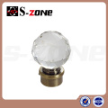 professional crystal glass finials for curtain rods curtain rod accessories