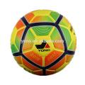 Tamanho oficial de couro PU bola de futebol laminado
