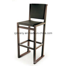 Chaise moderne bois cuir Bar (C43)
