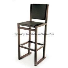 Cadeira moderna madeira couro Bar (C43)