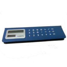 8 dígitos PVC Face Memo Flip Over Pencil Case Calculator