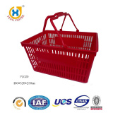 High Quality Plastic Handle Red Supermarket Basket For Shopping