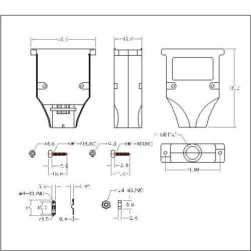 DBZES-09XX0 1 D-SUB METAL HOODS,09P,Straight,ETHERNET TYPE