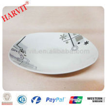 "Hot!!! Square 9"" Soup Plate/Cheap price Porcelain Dishes with decal/Made in China Square Ceramic Plates"