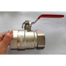 Válvula de bola sanitaria del agua de cobre amarillo de la fontanería con el precio de fábrica (YD-1021-1)