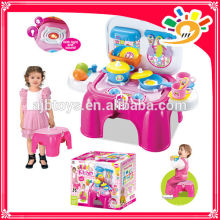 2014 new products child toy KITCHEN FURNITURE CHAIR WITH LIGHT AND MUSIC COOKING SET FOR FUN