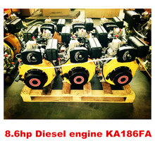 Top Selling New Product Single Cylinder Air Cooled 186F Marine Diesel Engine with Gearboxes (KA186F)