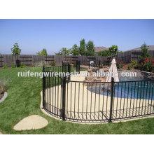 Clôture durable de piscine en acier noire / clôture de piscine / clôture de piscine de Terporary