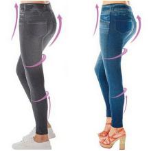 Las mujeres que adelgazan empujan los pantalones vaqueros de la cintura alta polainas (50110)