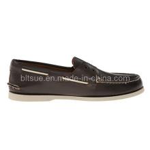 New Design Men Fashion Leather Boat Shoes Custom Boat Shoe