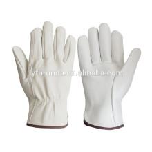 Gants de travail en cuir de chèvre en cuir de chèvre, gants de conducteur / classe AB