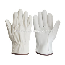 goatskin grain leather working gloves,driver gloves/AB grade
