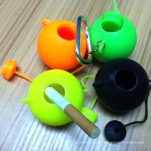 New Design Round Teapot Shape Portable Silicone Ashtry