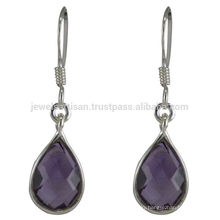 Amethyst Gemstone 925 Sterling Silver Drop Earring