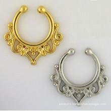 Fake Septum Jewelry Indian Nose Ring faux septum piercing fake septum nose hoop