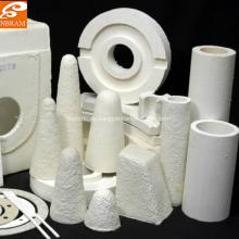 Piezas en forma de fibra cerámica.