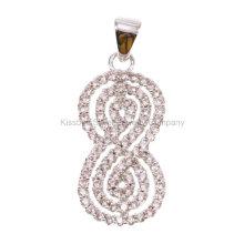 Bijoux en argent 925, pendentif en laiton et bijoux (KP3168)