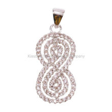 925 Silver Jewelry, Brass Jewellery Number Pendant (KP3168)