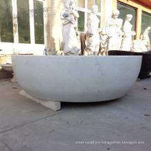 white marble stone bathtub