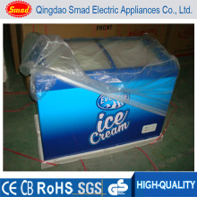 Glass Top Loading Chest Freezer Commercial Supermarket Ice Cream Display Freezer