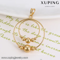 32803 Indian gold plated double round designed handmade beads gold pendant for children, kids jewelry