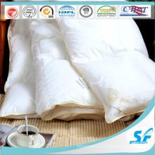 Одеяло из гусиного пуха с пуховым одеялом на обложке из сатиновой ткани для гостиницы Home