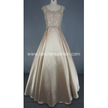 Open Back Beading Rhinestone Prom Dress