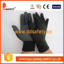 Nylon/Polyester Knitted Gloves PVC Dots-Dkp428