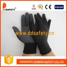 Трикотажные перчатки из нейлона / полиэстера PVC Dots-Dkp428