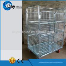HM-8B chorme steel laundry basket trolley with 4 doors, no lid, no clapboard, bear 500kgs