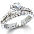 Hot Sell 925 Silver Wedding Ring Jewelry CZ Jewellery