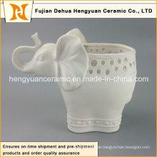 Neue Produkte Keramik Elefanten Reaktiv Glaze Vase (Garten Dekoration)
