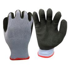 Le travail de carton de NMSAFETY emploient la doublure de polycotton de calibre 10 enduite des gants fonctionnants de latex