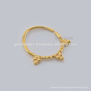 Großhandelsindische Septum-Nasen-Ring-Körper-Schmucksachen, Großhandelshandgemachtes Gold überzogener Piercing-Nasen-Ring-Hersteller