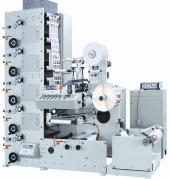 6 color UV flexo printing machine with rotary die-cutting