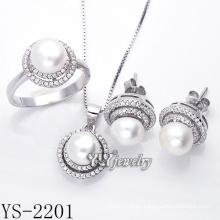 Joyería de plata de ley 925 conjunto de perlas plata (ys-2201)