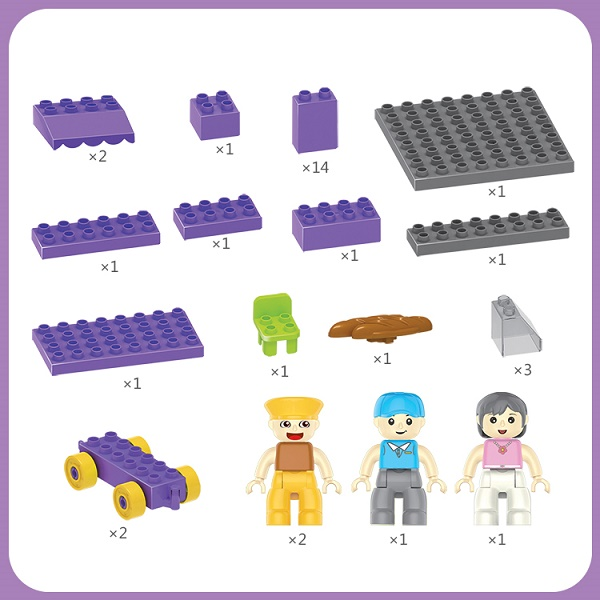 Large Colorful Building Blocks Toys