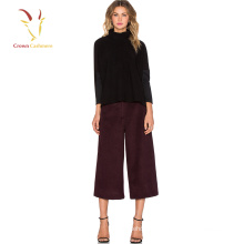 Cashmere lã moda calças mulheres 3/4 mulheres calças