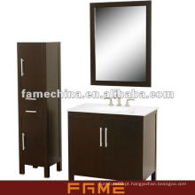 Gabinete de banho de madeira sólida clássica de piso de design novo 2013 (FM-S002)