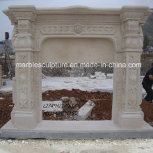 Natural Stone Hand Carved Marble Fireplace (SY-MF153)