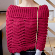 Женская грелки шеи шарф свитер кардиган обертывания зимний вязаный Снуд пончо (SP605)