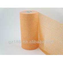 Style croisé et fourniture non-tissée de type non-tissé Spunlace non-tissé de maille, tissu non-tissé pour des lingettes humides