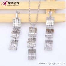 63535 date mode jolie place rhodium bijoux ensemble pour les femmes