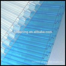 Toalhete transparente à prova de fogo Folha de policarbonato de múltiplas paredes em 100% Virgin Lexan / Makrolon Resin