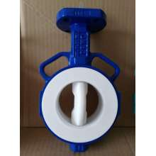 Wafer Butterfly Valve with PTFE Lined Disc